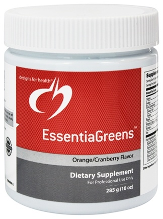 DROPPED: Designs For Health - EssentiaGreens Orange Cranberry Flavor - 285 Grams