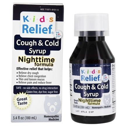 DROPPED: Homeolab USA - Kids Relief Cough & Cold Nighttime Formula - 3.4 oz.