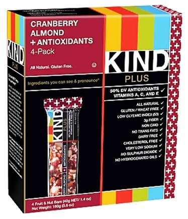 DROPPED: Kind Bar - Fruit and Nut Bars + Antioxidants Cranberry Almond - 4 Bars
