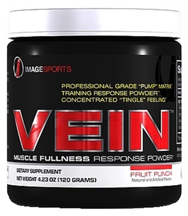DROPPED: Image Sports - Vein Muscle Fullness Response Powder Fruit Punch - 4.23 oz.