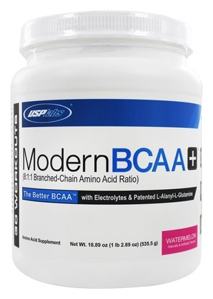 DROPPED: USP Labs - Modern BCAA+ Powder Ultra Micronized Amino Acid Supplement Watermelon - 18.89 oz.