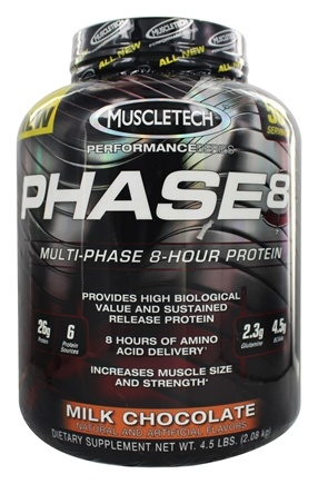 DROPPED: Muscletech Products - Phase8 Performance Series Multi-Phase 8-Hour Protein Milk Chocolate - 4.6 lbs.