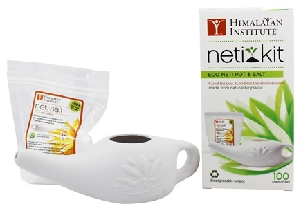 Himalayan Institute - Neti Kit Eco Neti Pot & Salt