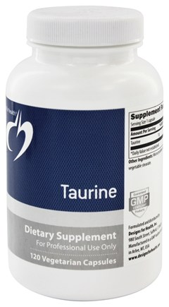 DROPPED: Designs For Health - Taurine 1000 mg. - 120 Vegetarian Capsules