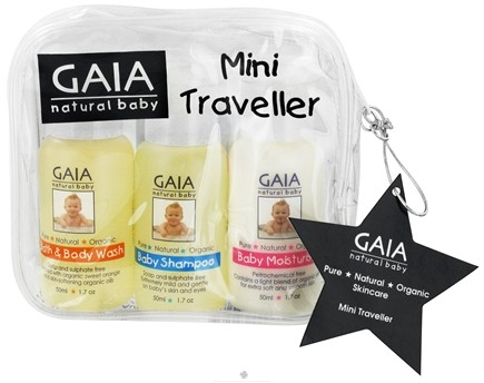 DROPPED: Gaia Skin Naturals - Gaia Natural Baby Mini Traveler Kit - CLEARANCE PRICED