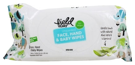 Field Day - Face, Hand & Baby Wipes Unscented - 72 Wipe(s)