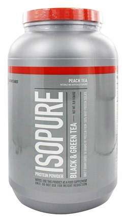 DROPPED: Nature's Best - Isopure Protein Powder Black & Green Tea Peach - 3 lbs.