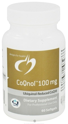 DROPPED: Designs For Health - CoQnol 100 mg. - 60 Softgels