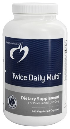 DROPPED: Designs For Health - Twice Daily Multi - 240 Vegetarian Capsules