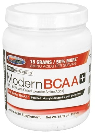 DROPPED: USP Labs - Modern BCAA+ Powder Ultra Micronized Amino Acid Supplement Fruit Punch - 18.89 oz.