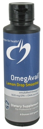 DROPPED: Designs For Health - OmegAvail Lemon Drop Smoothie - 8 oz. CLEARANCE PRICED