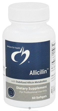 DROPPED: Designs For Health - Allicillin - 60 Softgels CLEARANCE PRICED