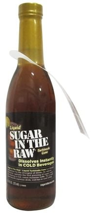 DROPPED: In The Raw - Sugar In The Raw Liquid Natural Cane Turbinado Sugar From Hawaii - 12.5 oz.