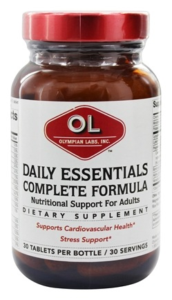 Olympian Labs - Daily Essentials Complete Formula - 30 Tablets