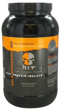 DROPPED: HIT Supplements - Core Evolution Whey Protein Isolate Milk Chocolate 30 Servings - 904.29 Grams CLEARANCE PRICED