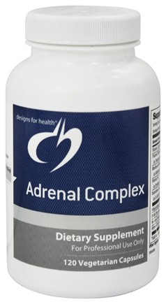 DROPPED: Designs For Health - Adrenal Complex - 120 Vegetarian Capsules