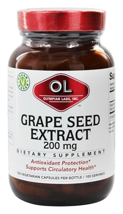Olympian Labs - Grape Seed Extra Strength 200 mg. - 100 Vegetarian Capsules