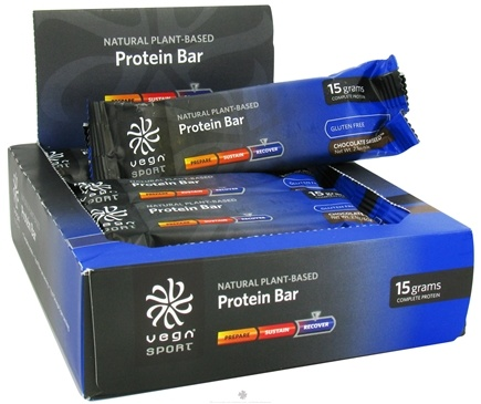 DROPPED: Vega - Vega Sport Natural Plant Based Protein Bar Chocolate Saviseed-12 x 2.1 oz. Bars