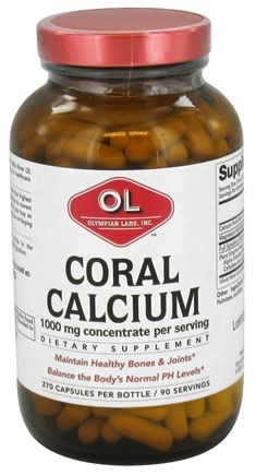 DROPPED: Olympian Labs - Coral Calcium 1000 mg. - 270 Capsules CLEARANCE PRICED