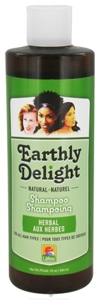 DROPPED: Earthly Delight - Natural Shampoo Herbal - 16 oz. CLEARANCE PRICED