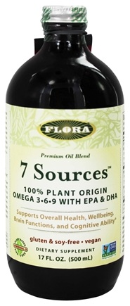 Flora - 7 Sources Omega 3-6-9 With EPA & DHA - 17 oz.
