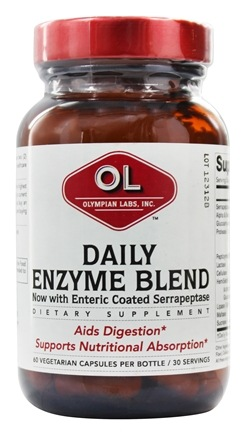 DROPPED: Olympian Labs - Daily Enzyme Blend - 60 Vegetarian Capsules