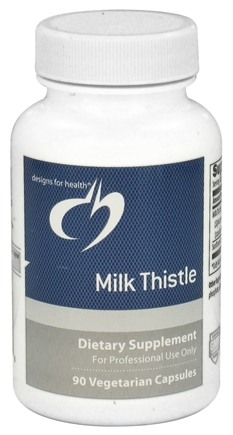 DROPPED: Designs For Health - Milk Thistle - 90 Vegetarian Capsules