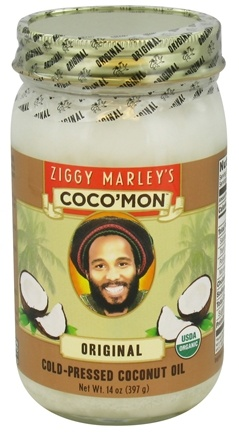DROPPED: Ziggy Marley Organics - Coco'Mon Cold-Pressed Coconut Oil Original - 14 oz. CLEARANCE PRICED