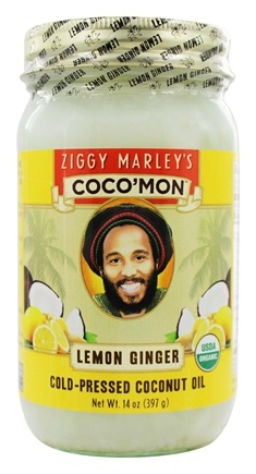 DROPPED: Ziggy Marley Organics - Coco'Mon Cold-Pressed Coconut Oil Lemon Ginger - 14 oz.
