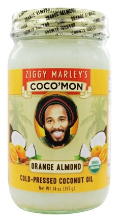 DROPPED: Ziggy Marley Organics - Coco'Mon Cold-Pressed Coconut Oil Orange Almond - 14 oz.