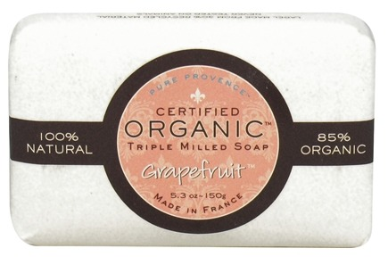 DROPPED: Pure Provence - Triple Milled Soap Certified Organic Grapefruit - 5.3 oz. CLEARANCE PRICED