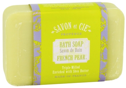 DROPPED: Savon et Cie - Triple Milled Bath Soap French Pear - 7 oz. CLEARANCE PRICED
