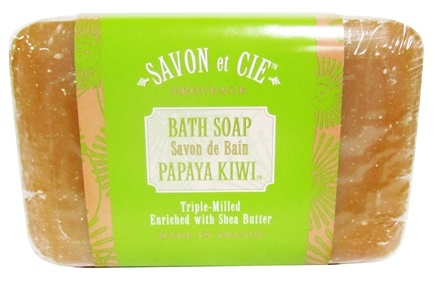 DROPPED: Savon et Cie - Triple Milled Bath Soap Papaya Kiwi - 7 oz. CLEARANCE PRICED
