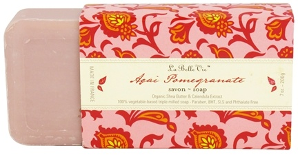 DROPPED: La Belle Vie - Triple Milled Bar Soap Acai Pomegranate - 7 oz.