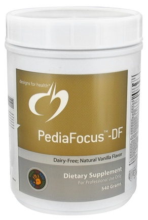 DROPPED: Designs For Health - PediaFocus-DF Natural Vanilla Flavor - 540 Grams CLEARANCE PRICED
