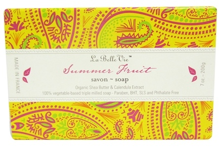 DROPPED: La Belle Vie - Triple Milled Bar Soap Summer Fruit - 7 oz. CLEARANCE PRICED