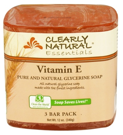 DROPPED: Clearly Natural - Glycerine Soap Bar Vitamin E - 3 Pack