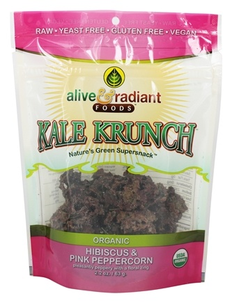 DROPPED: Alive & Radiant Foods - Kale Krunch Hibiscus & Pink Peppercorn - 2.2 oz.