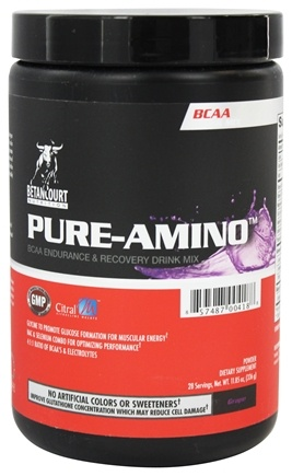 DROPPED: Betancourt Nutrition - Pure Amino BCAA Powder Drink Mix Grape - 336 Grams CLEARANCE PRICED