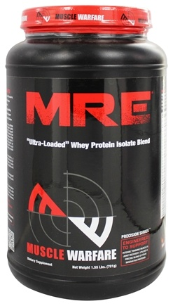 DROPPED: Muscle Warfare - MRE Ultra-Loaded Whey Protein Isolate Blend Milk Chocolate 25 Servings - 1.55 lbs. CLEARANCE PRICED
