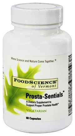 DROPPED: FoodScience of Vermont - Prosta-Sentials - 60 Vegetarian Capsules CLEARANCE PRICED