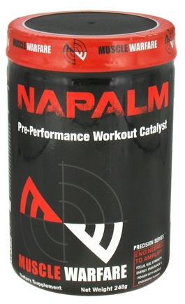 DROPPED: Muscle Warfare - Napalm Pre-Performance Workout Catalyst Fruit Punch 45 Servings - 248 Grams