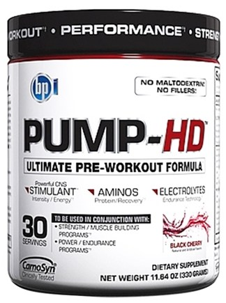DROPPED: BPI Sports - Pump-HD Pre-Workout Muscle Builder Black Cherry 30 Servings - 11.64 oz.