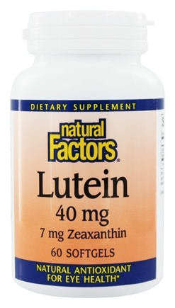 Natural Factors - Lutein 40 mg. - 60 Softgels