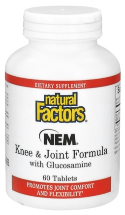 DROPPED: Natural Factors - NEM Knee & Joint Formula with Glucosamine - 60 Tablets CLEARANCE PRICED