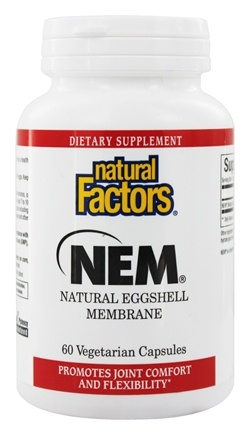 Natural Factors - NEM Natural Eggshell Membrane 500 mg. - 60 Vegetarian Capsules