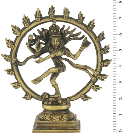 DROPPED: Triloka - Nataraj Dancing Shiva Statue Recycled Brass - 7.7 in.