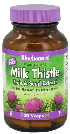DROPPED: Bluebonnet Nutrition - Standardized Milk Thistle Fruit & Seed Extract 175 mg. - 120 Vegetarian Capsules CLEARANCE PRICED