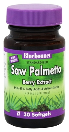 DROPPED: Bluebonnet Nutrition - Standardized Saw Palmetto Berry Extract 160 mg. - 30 Softgels CLEARANCE PRICED