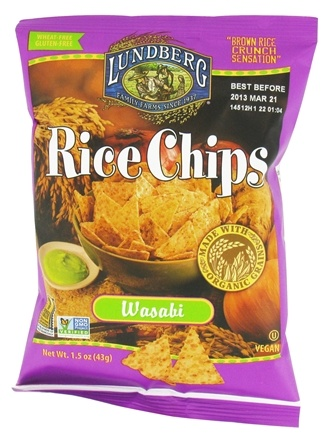 DROPPED: Lundberg - Rice Chips Wasabi - 1.5 oz. CLEARANCE PRICED